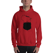 Load image into Gallery viewer, Bearded Wisconsin Hooded Sweatshirt