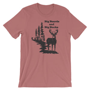 Big Beards and Bucks Short Sleeve Unisex T-Shirt