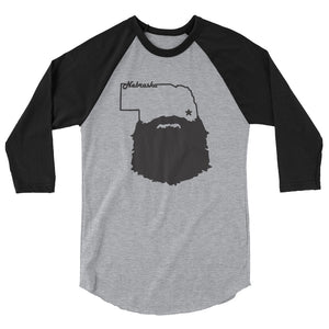 Bearded Nebraska 3/4 Sleeve Raglan Shirt