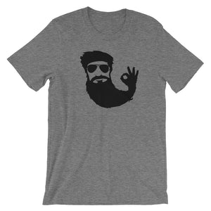 Beard Man Okay Short Sleeve Unisex T-Shirt