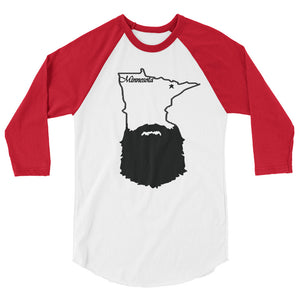Bearded Minnesota 3/4 Sleeve Raglan Shirt