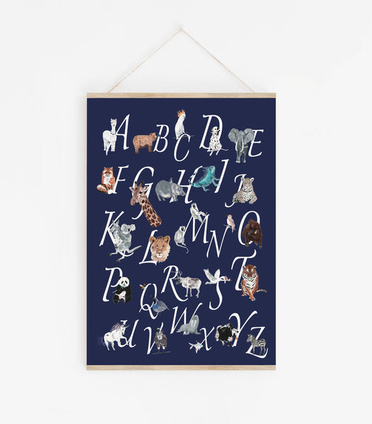 A-Z Animal Chart - Dark Navy