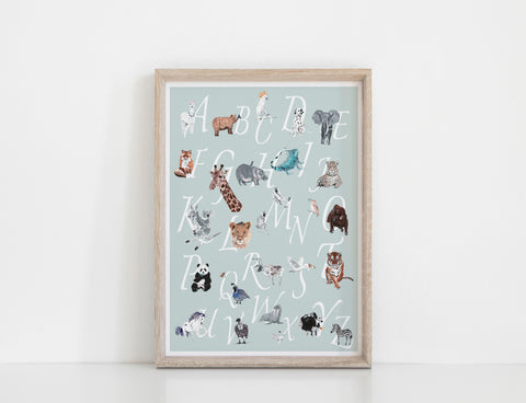 A-Z Animal Chart - Sea Green