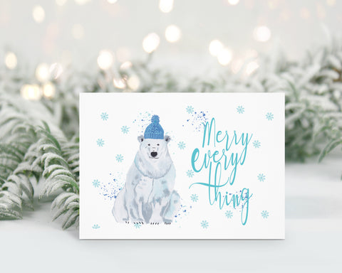Christmas Cards Pack of 6 - Reindeer/Polar bear