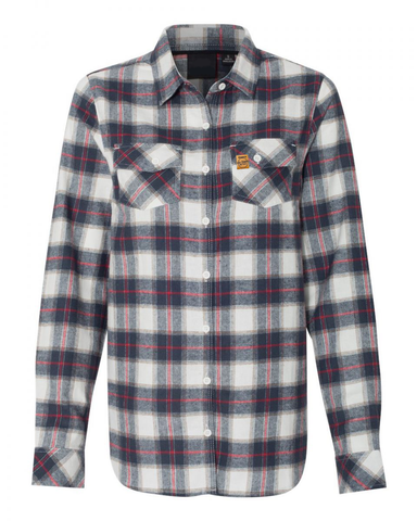 LL Ladies Flannel (White/Red)