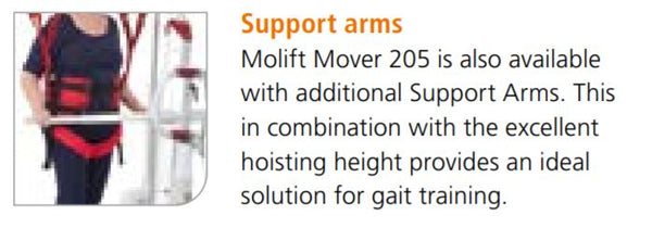 Variant for Molift Mover 205 Hydraulic Electric Powered Mobile Patient Lift by ETAC