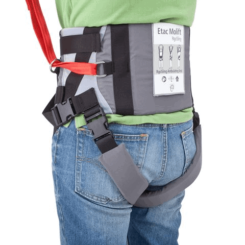 Back View - Molift Rgo Sling Ambulating Vest - Patient Sling for Molift Lifts by ETAC | Wheelchair Liberty