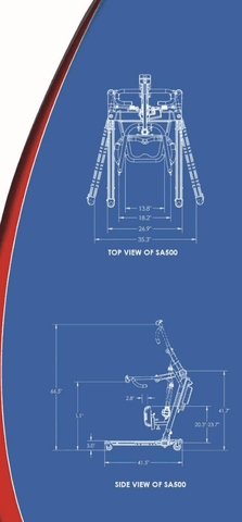 Blue Print - BestStand™ SA500 | SIT TO STAND ASSIST ELECTRIC LIFT by Best Care | Wheelchair Liberty