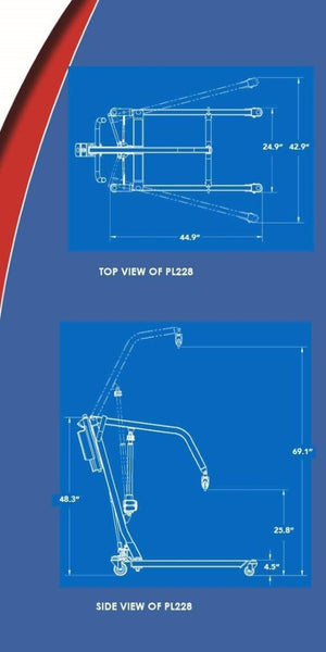Blue Print - The BestLift™ PL228 | FULL BODY ELECTRIC PATIENT LIFT Best Care LLC | Wheelchair Liberty