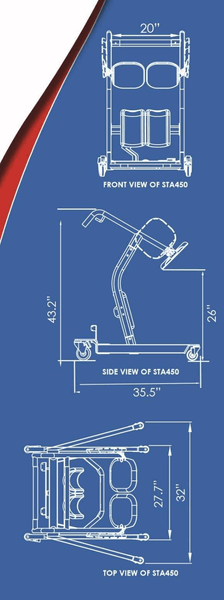 Blue Print - The BestMove ™ STA450 | STANDING TRANSFER AID  by Best Care LLC | Wheelchair Liberty