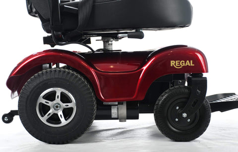 Merits P310 Regal Power Wheelchair offers ultimate mobility and freedom with its most stable and heavy-duty, low-center-of-gravity design.