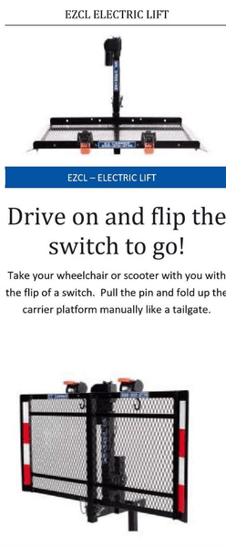 Feature - EZCL: Fold Up Vehicle Electric Lift Class 2 & 3 for Wheelchairs and Scooters by EZ-Carrier | Wheelchair Liberty