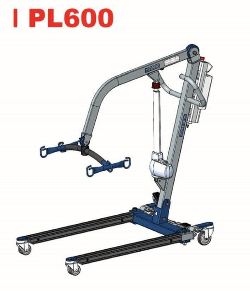 Illustration - The BestLift™ PL600   FULL BODY ELECTRIC PRO PATIENT LIFT Best Care LLC   Wheelchair Liberty