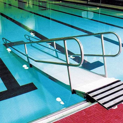 Kalispell Rust-Proof Stainless Steel Pool Access Ramp by Spectrum Aquatics
