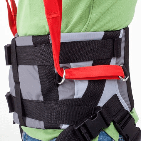 Side View On User - Molift Rgo Sling Ambulating Vest - Patient Sling for Molift Lifts by ETAC | Wheelchair Liberty