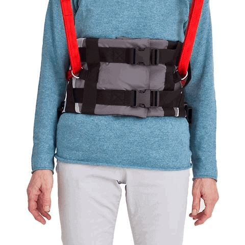 Sling Support On User - Molift Rgo Sling Ambulating Vest - Patient Sling for Molift Lifts by ETAC | Wheelchair Liberty
