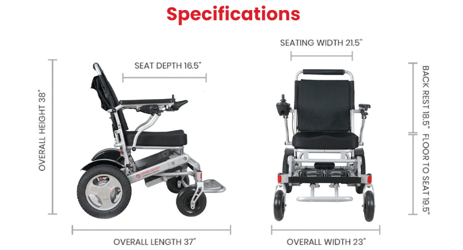 Specifications - City Plus Electric Wheelchair by Travel Buggy | Wheelchair Liberty