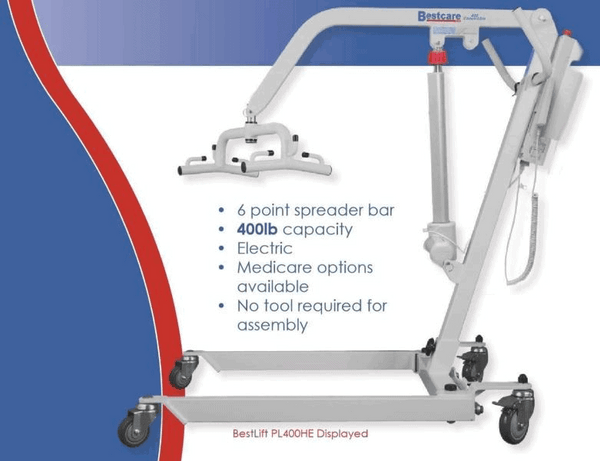 Specifications - The BestLift™ PL400H| CONVERTIBLE HYDRAULIC PATIENT LIFT by Best Care LLC | Wheelchair Liberty