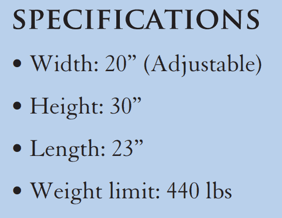 Specifications - Independent Lifter Specialty Slings By Handicare | Wheelchair Liberty