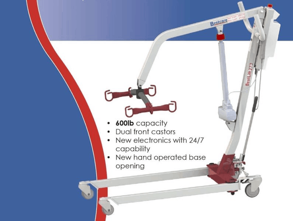 Specifications - The BestLift™ PL273 | FULL BODY PATIENT ELECTRIC LIFT Best Care LLC | Wheelchair Liberty