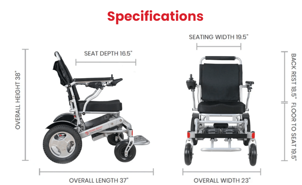 Specifications for City Electric Wheelchair by Travel Buggy | Wheelchair Liberty