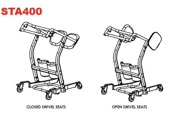 Swivel Illustration - The BestMove™ STA400 Sit-to-Stand Standing Transfer Aid by Best Care |Wheelchair Liberty