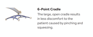 6 Point Cradle - Hoyer Calibre Pro Bariatric Electric Patient Lift by Joerns | Wheelchair Liberty