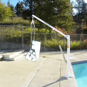 Side View - EZ 2 Manual Pool Lift by Aqua Creek | Wheelchair Liberty