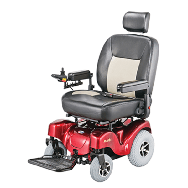 Atlantis Heavy - Duty Power Wheelchair P710 - Red