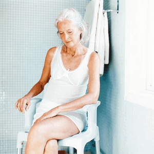 Bathroom Use By Lady - Swift Shower Stool/Chair by Etac | Wheelchair Liberty