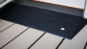 Black Variant - TRANSITIONS® Angled Entry Mats by EZ-ACCESS® | Wheelchair Liberty