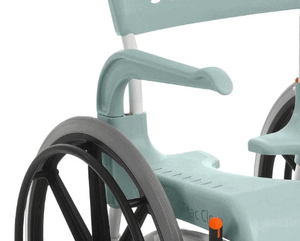 CLEAN Self-Propelled Shower Commode Chair - Arm Support
