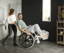 CLEAN Self-Propelled Shower with 24 Inch Rear Wheels - Carer Use