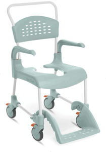 CLEAN Shower Commode Chair Lagoon Green Full Image