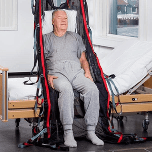 Carer Use Front View - SafeHandlingSheet Positioning Slings By Handicare | Wheelchair Liberty