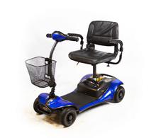 Blue - Dasher 4 4-Wheel Electric Scooter by Shoprider | Wheelchair Liberty