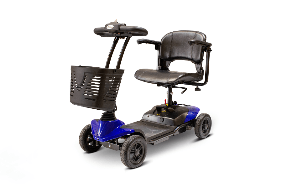 EW-M35 Lightweight Portable Scooter - Quarter Left Side View - Blue