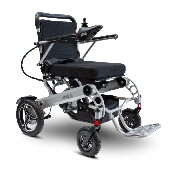 EW-M43 Folding Power Wheelchair Quarter Right Side View