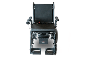 EW-M47 Folding Power Wheelchair Full Front Top View Black