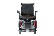 EW-M47 Folding Power Wheelchair Full Front View Red