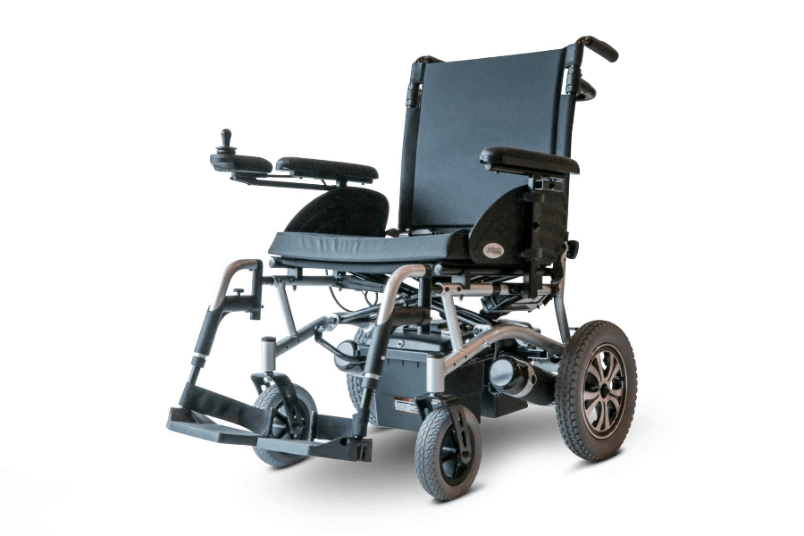 EW-M47 Folding Power Wheelchair Left Side Black