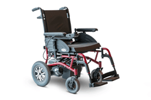 EW-M47 Folding Power Wheelchair Right Side Red