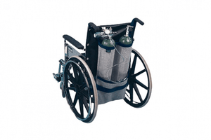 EZ-ACCESSORIES Wheelchair Oxygen Carrier Dual Tank