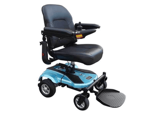 EZ-GO Deluxe Portable Power Wheelchair - Turquoise