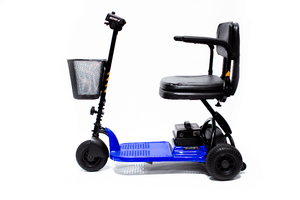 Blue, SIde View - Echo 3 3-Wheel Electric Mobility Scooter by Shoprider | Wheelchair Liberty