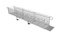 Expanded Metal Surface On Picket Fence - PATHWAY® 3G Modular Access System Solo Kits Wheelchair Ramp by EZ-ACCESS® | Wheelchair Liberty