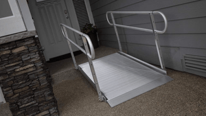 GATEWAY 3G Portable Solid Surface Entry Ramps - On Doorway