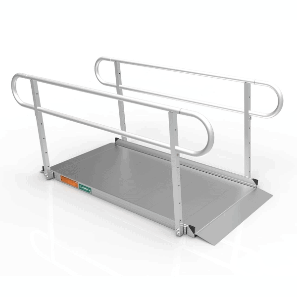 GATEWAY 3G Portable Solid Surface Entry Ramps - With Rails | Wheelchair Liberty