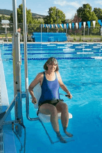 Gallatin Water-Powered Pool Lift WP 400 ADA Compliant  - In Use