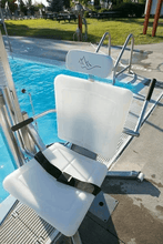 Gallatin Water-Powered Pool Lift WP 400 ADA Compliant - Seat With Safety Belt